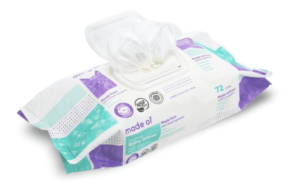 soothing organic baby wipes